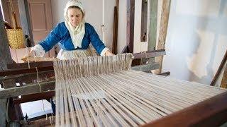 Weaving On Mount Vernons 18th Century Loom