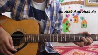 Tera Hua - Atif Aslam - Hindi Guitar cover Lesson Chords Easy - Loveratri
