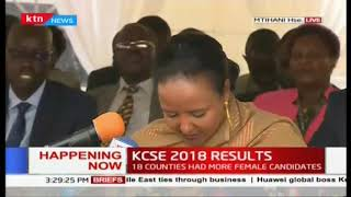 90,377 candidates scored C+ and above, more than 2017|#KCSEResults2018