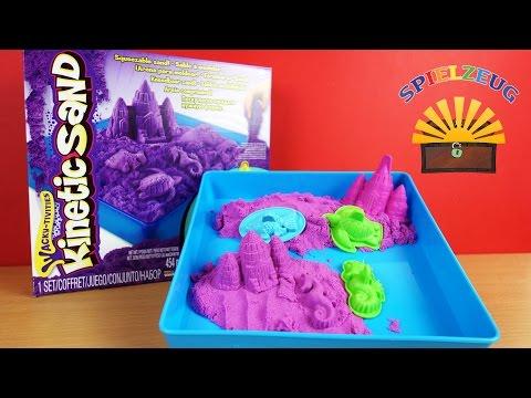 Kinetic Sand Box Set - Spin Master 6028092 - Kinder lila Sand Burg bauen Review auspacken