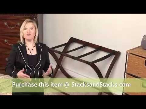 Hotel Style Luggage Rack - Foldaway Suitcase Stand at Stacks and Stacks