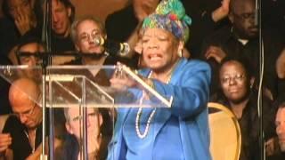 Dr. Maya Angelou visting Glide memorial Church in San Francisco