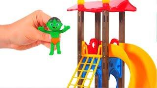 Kids Having Fun At The Playground 💕 Cartoons For Kids