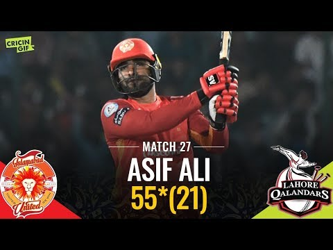 PSL 2019 Match 27: Lahore Qalandars vs Islamabad United | Asif Ali Special