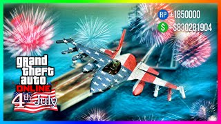 Happy 4th Of July 2020 In GTA 5 Online...Celebrate With FREE Items, Bonus Money Rewards & MORE!