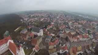 preview picture of video 'Luftbilder Colditzer Schloss - Castle Colditz - Drohnenflug vom 14.03.2015'