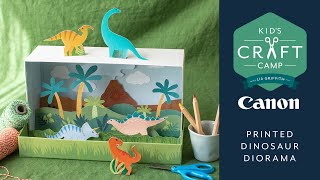 DIY Dinorama | Kid's Craft Camp | Canon Live