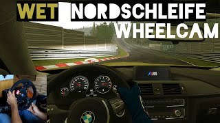 DRIFTING on the WET Nordschleife - BMW M4 | Assetto Corsa VR Gameplay [Wheelcam]