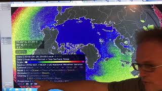 Methane Venting Into Air Over Arctic Sea Ice.