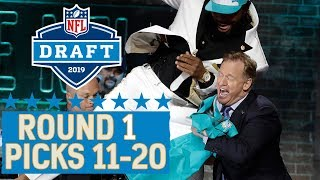 Picks 11-20: A Chest Bump with the Commissioner, Another QB Gone, & More!   2019 NFL Draft