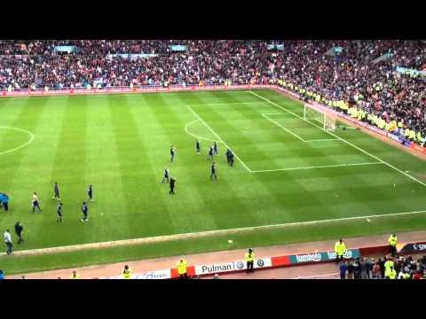 Sunderland v Man Utd 2012 Sunderland Fans do Poznan to Man Utd Fans at Final Whistle
