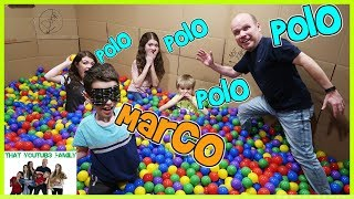 MARCO POLO In BOX FORT BALL PIT  That YouTub3 Family