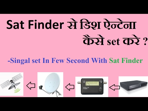 Sat Finder se Dish Antenna set Kaise Kare ?How to set dish antenna with sat finder