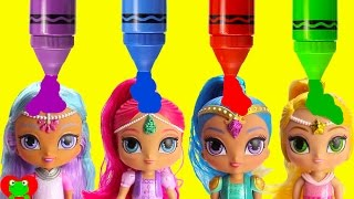 Shimmer and Shine Bath Time Fun and Surprises Learn Colors