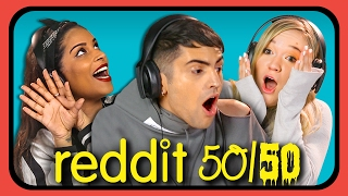 YOUTUBERS REACT TO REDDIT 50/50 Challenge