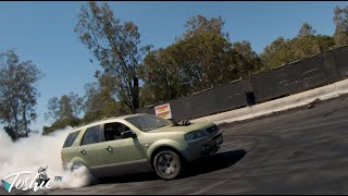 FPV Burnout - Ford Territory INCREDIBLE BURNOUT!