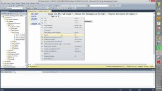 How to use The SQL Query Designer