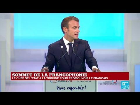 Vidéo-Sommet Francophonie: L'hommage poignant de Macron à Youssou Ndour