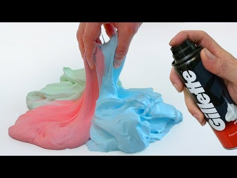 How to make Fluffy Slime with Foam, No Borax
