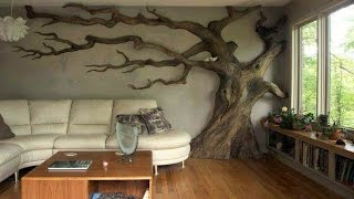 Tree Wall In Living Rooms ᴴᴰ █▬█ █ ▀█▀