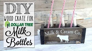 DIY Dollar Tree Milk Bottle Crate   Collab with MommaFromScratch