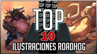 Top 10 Las mejores ilustraciones de ROADHOG - Overwatch