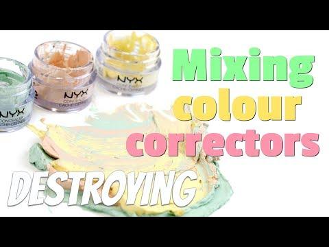 THE MAKEUP BREAKUP - Mixing colour correctors. What colour does it make? Destroying makeup