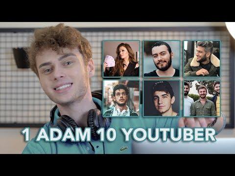 1 ADAM 10 YOUTUBER (Youtuber Taklitleri: Reynmen, Kafalar, Danla Bilic, Orkun Işıtmak, Enes Batur)