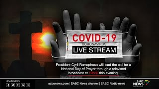 President Cyril Ramaphosa will lead the call for a National Day of Prayer through a televised broadcast at 19h30 this evening.  During the address, the President is also expected to provide an update on provisions for the religious sector following a meeting of the National Coronavirus Command Council which considered the inputs made by the sector in recent consultations with interfaith leaders. The President's address will be broadcast live on television and radio and will be streamed live on a range of online platforms.  For more news, visit sabcnews.com and also #SABCNews, #Coronavirus, #COVID19 on Social Media.