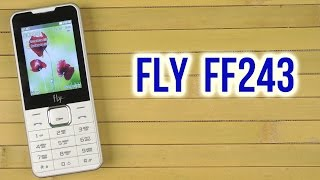 Мобильный телефон Fly FF243 (Black) от компании Cthp - видео 3