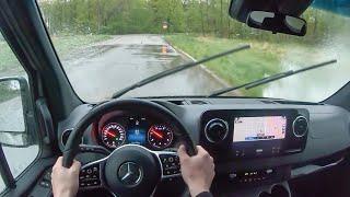 [WR Magazine] 2019 Mercedes-Benz Sprinter 3500XD - POV Rainy Day Drive (Binaural Audio)