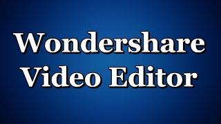 Wondershare Video Editor как улучшить качество видео убрать чёрные полосы урок №3