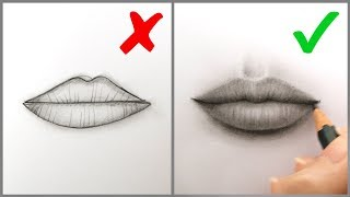 Don'ts & Do's: How to Draw Realistic Lips (Mouth) – Easy Step by Step Tutorial for Beginners (2019)