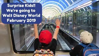 Surprise Kids!! Were Going To Walt Disney World!! | February 2019