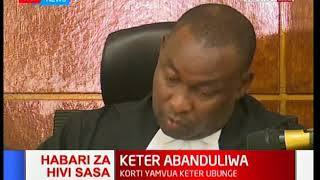 Breaking News: Eldoret Court's nullify Nandi Hills MP Alfred Keter's win