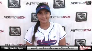 2022 Sophia Ayala Athletic Third Base and Second Base Softball Skills Video - AASA - Ayala