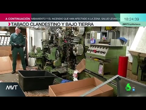 Desmantelan en Málaga la primera fábrica ilegal de tabaco subterránea de Europa