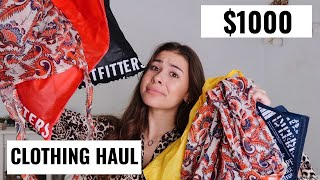 $1000 Try On Clothing Haul
