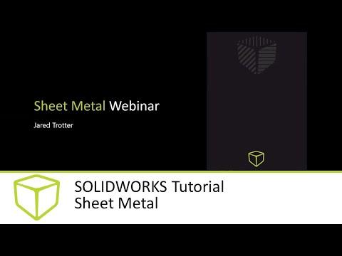 SOLIDWORKS Tutorial - Sheet Metal - YouTube