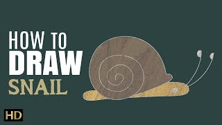 How To Draw SNAIL (घोंघा)| Easy Step By Step Drawing For Children | Shemaroo Kids Hindi