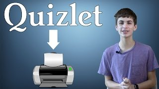 How To Print Quizlet Flashcards Onto Real Flashcards