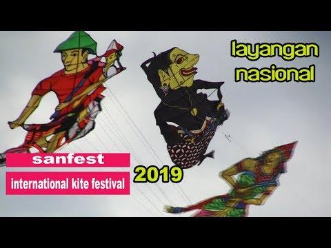 Layang Layang Wayang Di Pantai Mertasari | Sanur International Kite Festival 2019