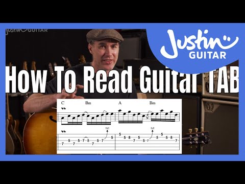 How to read guitar TAB for beginners   guitar lesson   examples   how to read tabs