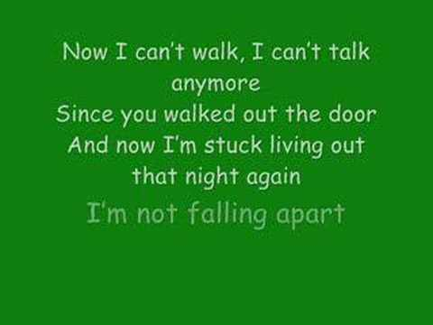 Maroon 5: Not Falling Apart with lyrics