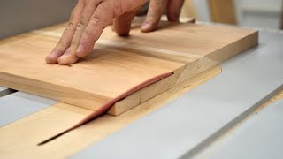 How To Cut Perfect Long Miters on the Table Saw - Woodworking