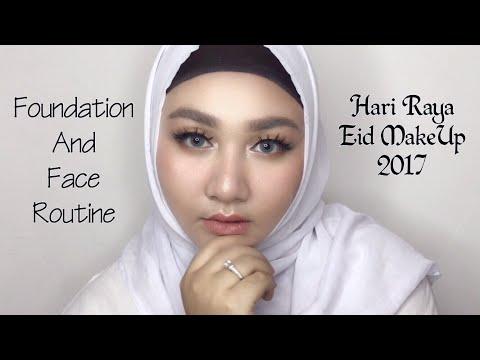 Foundation & Face Routine For Hari Raya / Eid MakeUp 2017 | Diendiana