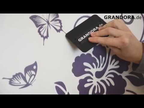 Anleitung Wandtattoo anbringen von Grandora.de