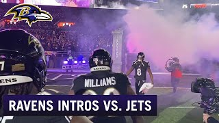 Lamar Jackson, Ravens Run Out of Tunnel During Incredible Intros | Baltimore Ravens
