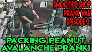 Smoothie Shop Prank War Episode 3: Packing Peanut Avalanche
