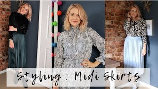 How To Wear Midi Skirts | Styling Skirts For Winter 2018